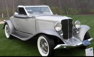 1933 Auburn Salon Convertible Coupe l