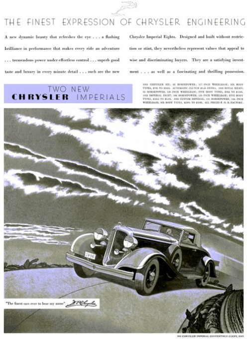 1933 Chrysler imperial ad