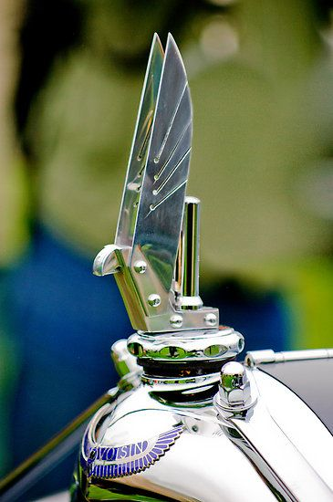 1934 Voisin C-25 Aerodyne Hood Ornament by Jill Reger
