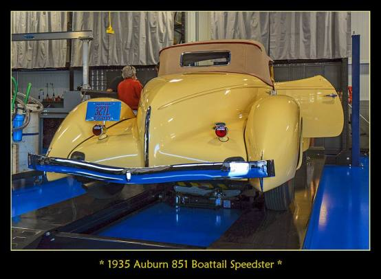 1935 Auburn 851 Boattail Speedster f