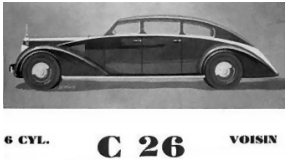 1935 Avion Voisin C26 Catalogue