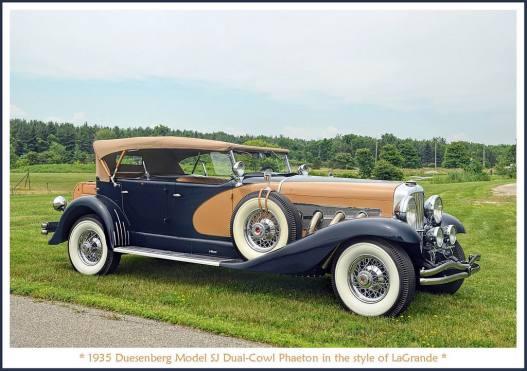 1935 Duesenberg Model SJ Dual-Cowl Phaeton b