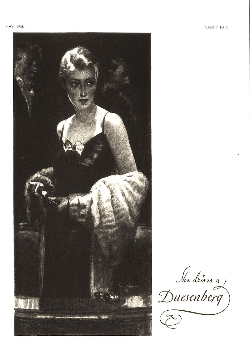1935 Vanity Fair Magazine Duesenberg advertisement