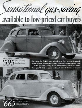 1936 Nash & LaFayette Car Ad--2 Page Ad