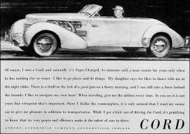 1937 Cord 812 phaeton ad