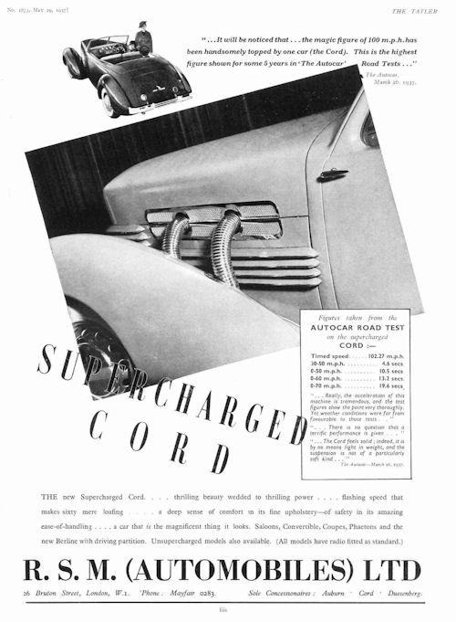 1937 Cord adv. march