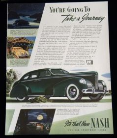 1939 NASH ADVERTISEMENT - IT'S THAT NEW NASH THE CAR EVERYBODY LIKES