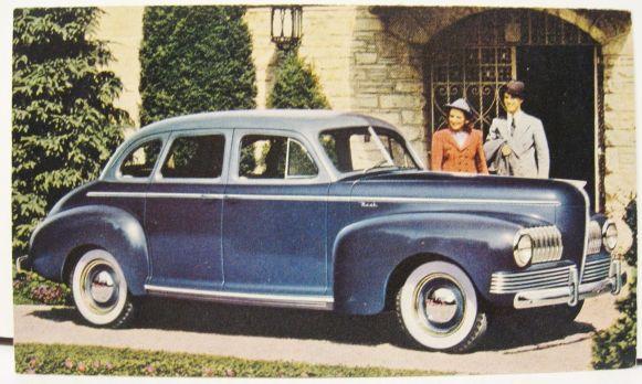 1941 Nash 4 Dr Sedan Postcard