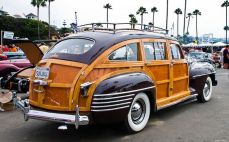 1942 Chrysler T Barrel Back Station Wagon - maroon