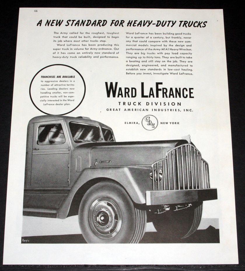 1945 OLD MAGAZINE PRINT AD