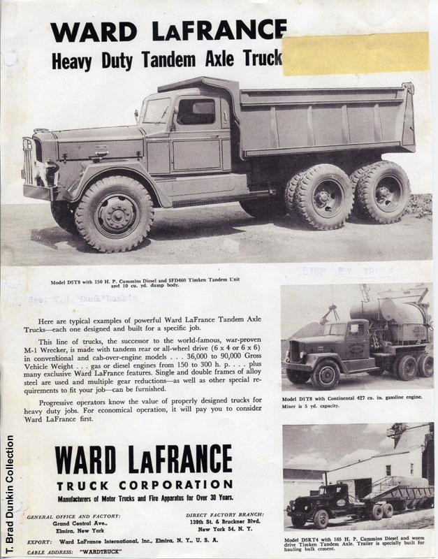 1950 Ward LaFrance brochure