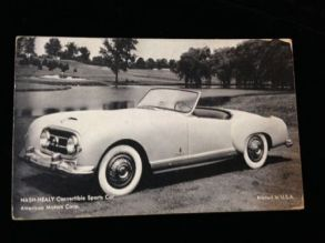 1951 Nash-Healy (AMC) Convertible Sports Car Advertising Card