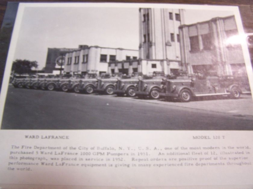 1951 Ward LaFrance in line