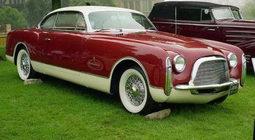 1953 Chrysler Ghia coupe.