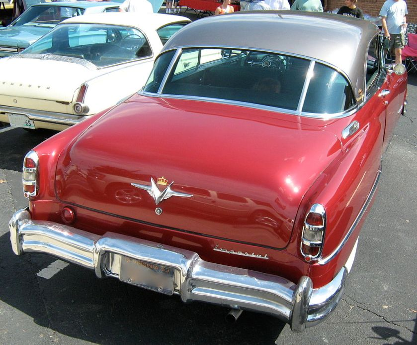 1953 Chrysler Imperial Custom coupe rear