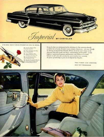 1954 advertisement of the (Chrysler) Imperial.