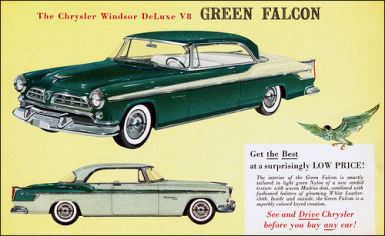 1955 Chrysler Windsor Green Falcon