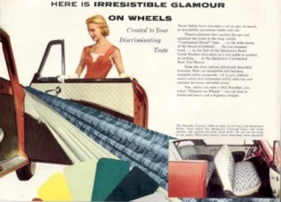 1955 Nash Rambler brochure describing the interiors