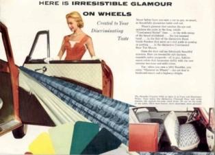 1955 Nash Rambler brochure describing the interiors