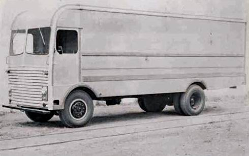 1955 Ward LaFrance Furniture Van Truck Factory Photo