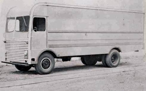 1955 Ward LaFrance Furniture Van Truck Factory Photo