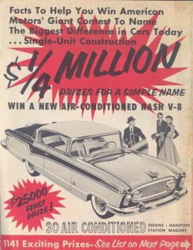 1956 AMC Nash Air Conditioned Car Contest Brochure wp8338-4JJWP8