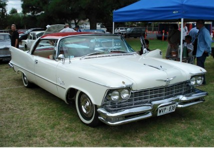 1957 Imperial Crown coupé.