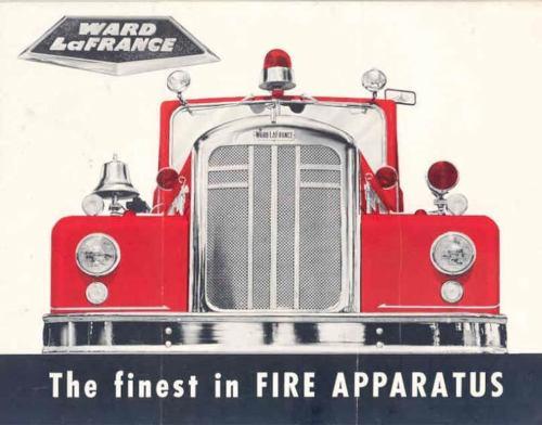 1957 Ward Lafrance Aerial Pumper Fire Truck Brochure