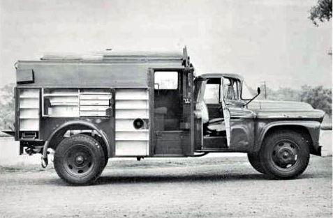 1958 Chevrolet Ward LaFrance Fire Truck Factory Photo