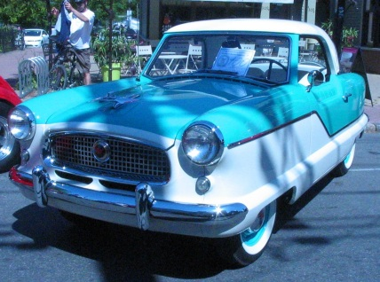 1958 Nash Metropolitan photographed in Pointe-Claire, Quebec