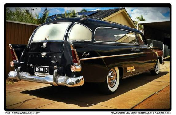 1959 ‪#‎Chrysler‬ Royal ‪#‎Hearse‬ built by R.F. Weber of Victoria, ‪#‎Australia‬