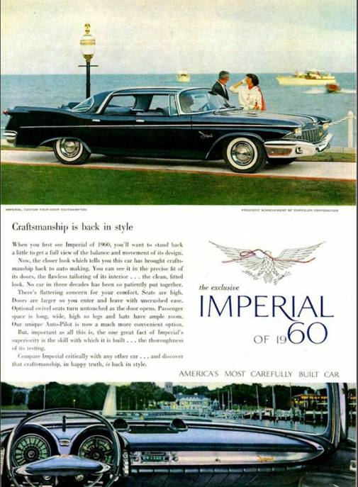 1960 advertisement from the proudest achievement of Chrysler Corporation