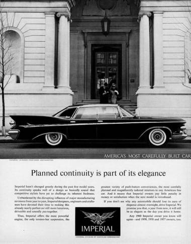 1961 Imperial Le Baron four-door Southampton advertisement.