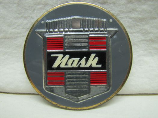 1962 Vintage NASH Auto Car Round Metal Plaque