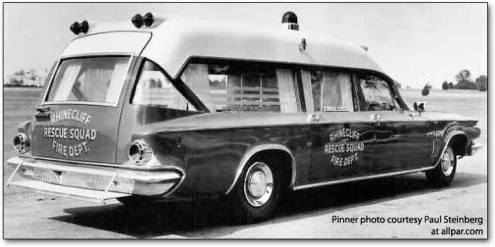 1963 Chrysler New Yorker ambulance was made by the Pinner Coach Company of Victoria, Mississippi a