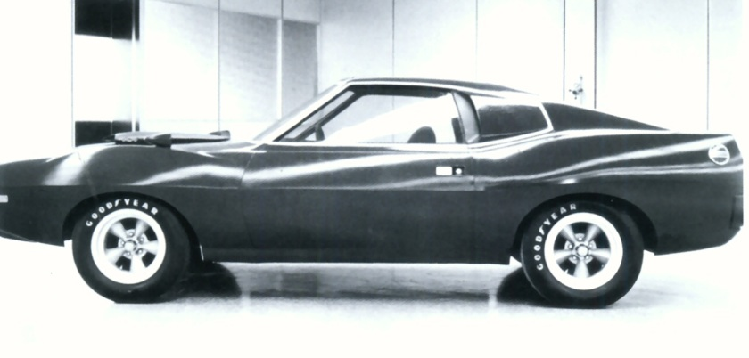 1969 AMC Dick Teague Styling Proposal for 1971 AMX BW