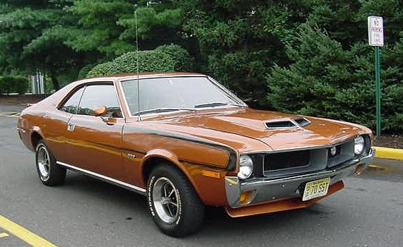 1970 AMC Javelin SST with Go package in bitter sweet orange