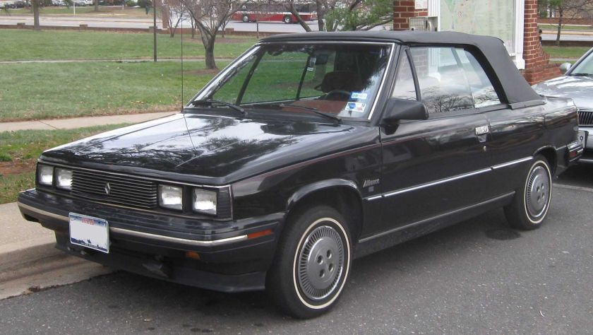 1985 Renault Alliance convirtible photographed in College Park, Maryland, USA.