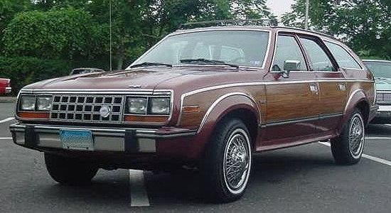 1987 AMC Eagle wagon burgundy-woodgrain NJ