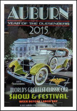 2015 Auburn Cord Duesenberg Festival Poster