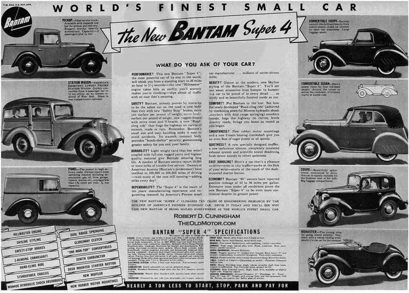 American Bantam ad's