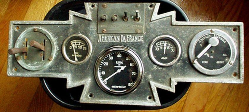 American LaFrance dashboard