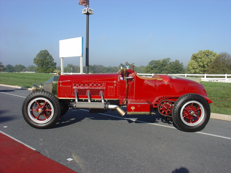 American LaFrance Firetruck chassis that has been converted into a speedster.