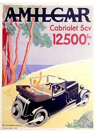 amilcar cabriolet 5cv poster