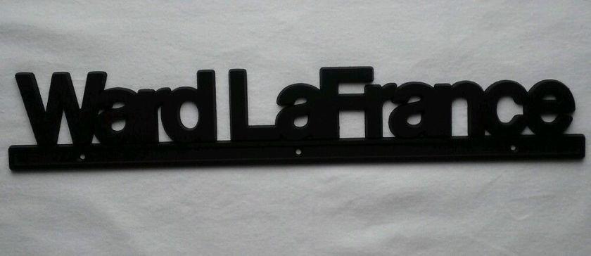 Vintage NOS Metal Ward LaFrance Fire Engine Sign, Truck Logo Plate, Tank Emblem a