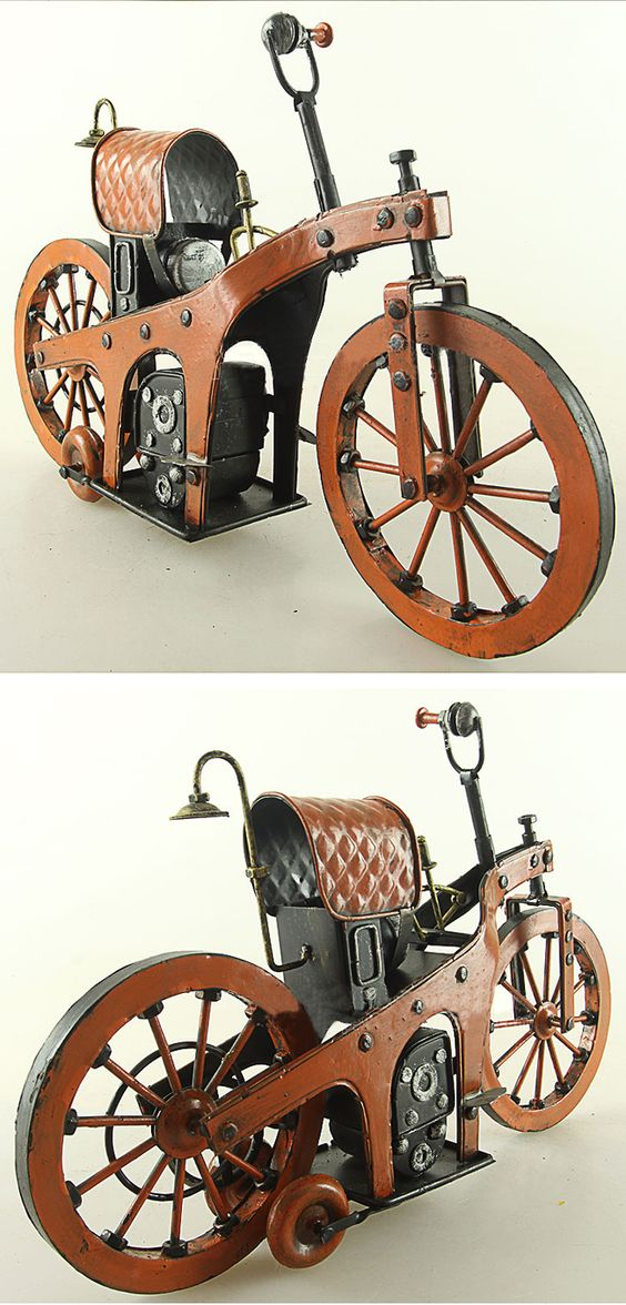 1885 Tin Motorcycle Model -Benz-The World's First Motorcycle