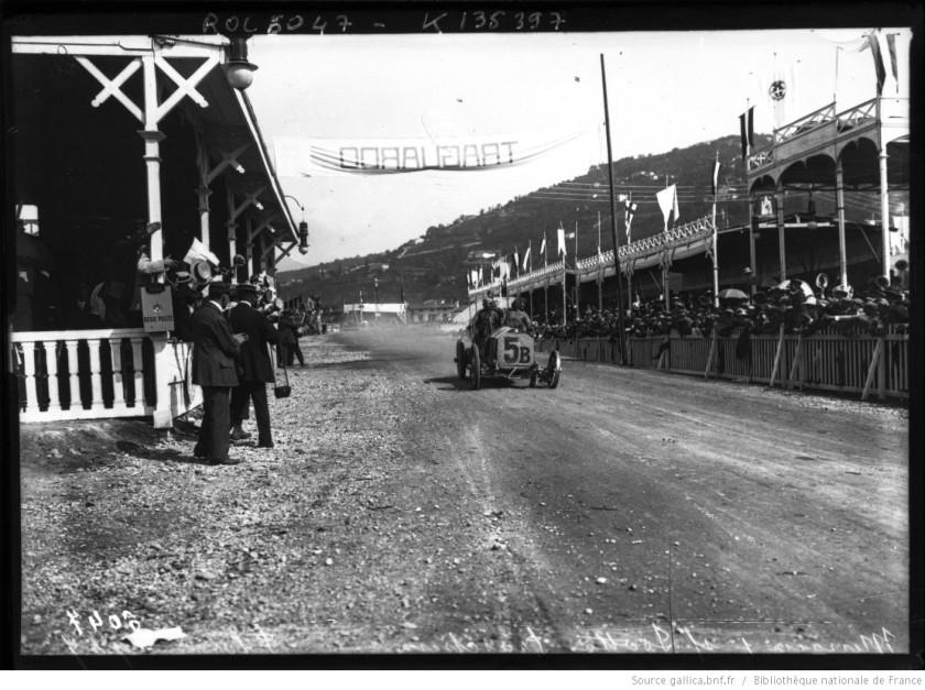 1907 [Ferdinando] Minoia, sur Isotta-Fraschini, [Coupe] Florio 1907