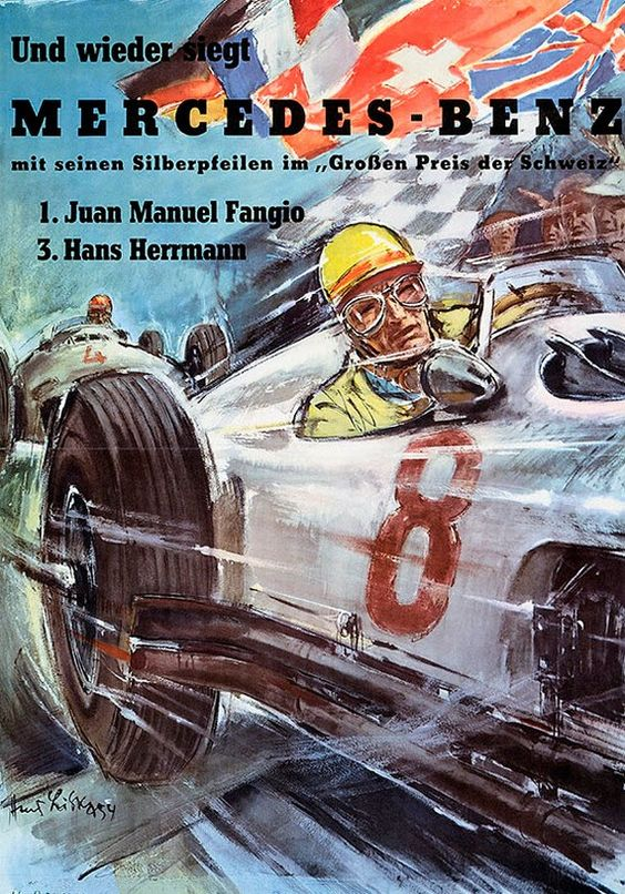 1908-55 Mercedes Benz Racing Posters