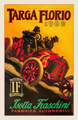 1908 Isotta Fraschini poster