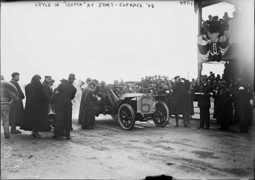 1908 Isotta Fraschini Tipo FE Vanderbilt_Cup,_Herb_Lytle
